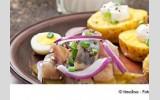Ofenkartoffeln mit Matjes und zwei Dips